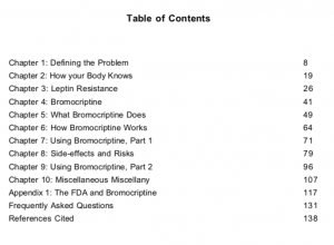 Bromocriptine by Lyle McDonald Table of Contents