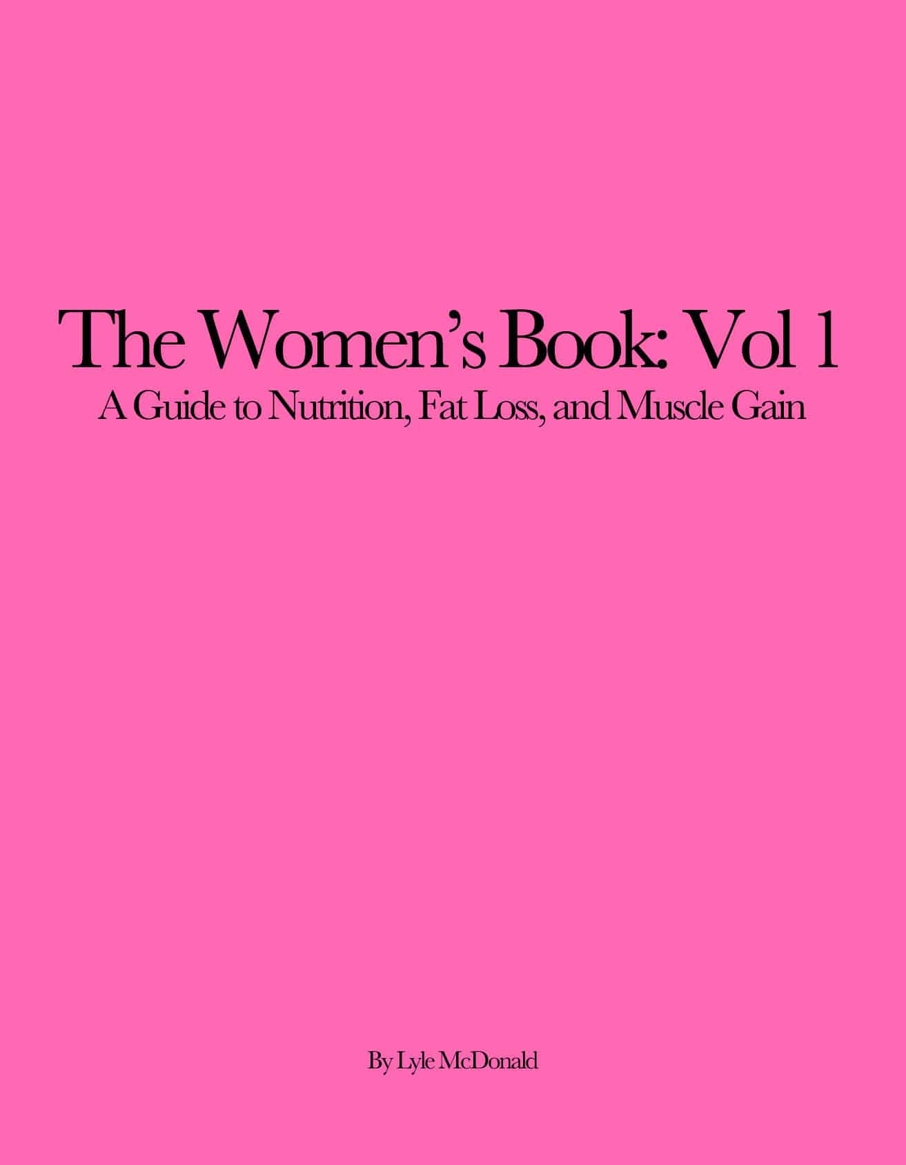 The Women's Book Vol 1