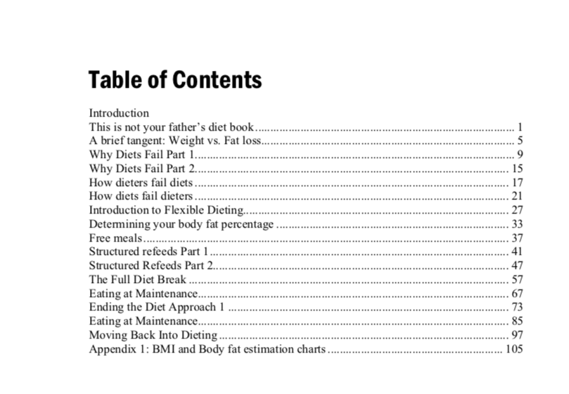 Guide to Flexible Dieting by Lyle McDonald Table of Contents