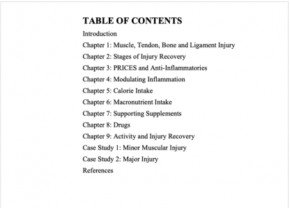 Optimal Nutrition for Injury Recovery by Lyle McDonald Table of Contents