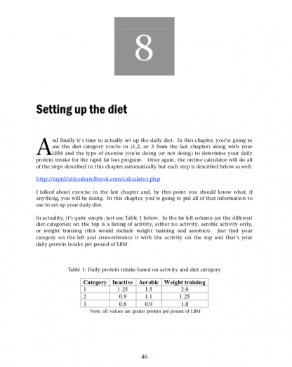 Rapid Fat Loss Handbook by Lyle McDonald Sample Page