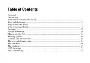 Ultimate Diet 2.0 by Lyle McDonald Table of Contents