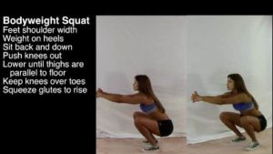 Mom Strong Bodyweight Squat Exercise Instruction